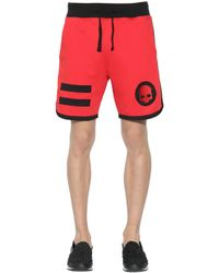 Hydrogen | Red Hockey Cotton Jogging Shorts W/ Patches for Men | Lyst