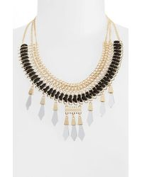 TOPSHOP | Black Statement Necklace | Lyst