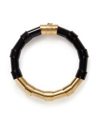 Lanvin | Metallic Brass Tube Choker Necklace | Lyst