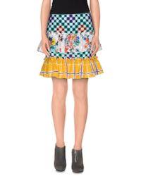 Love Moschino Green Knee Length Skirt