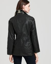 Barbour | Black Beadnell Waxed Jacket | Lyst