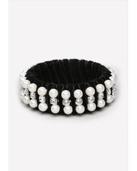 Bebe | Black Velvet Pearlescent Bangle | Lyst