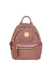 MCM Pink Extra Mini Bebe Boo Special Backpack