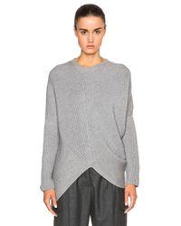 Stella McCartney Gray Clean Ribs Asymmetric Sweater