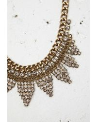 Forever 21 | Metallic Curb Chain Rhinestone Necklace | Lyst
