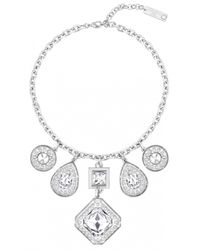 Azzaro | Metallic Silver Dauphiné Short Necklace | Lyst
