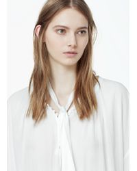 Mango | White Tie-neck Blouse | Lyst