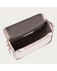 Bally Natural Dossen Stripes Women ́s Leather Shoulder Bag In Beige