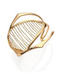 Alexis Bittar - Metallic Miss Havisham Kinetic Chain-Ribbed Cuff Bracelet - Lyst