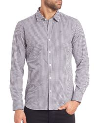 Victorinox - Blue Hagen Gingham Sportshirt for Men - Lyst