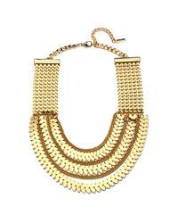 Piper Strand | Metallic Gold Chevron Bib | Lyst