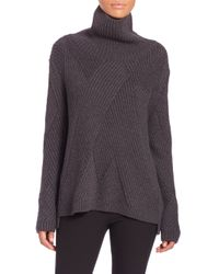 Rag & Bone | Gray Ribbed Turtleneck Sweater | Lyst