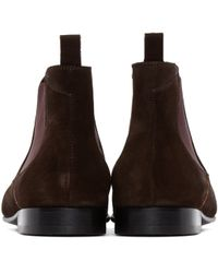 PS by Paul Smith Brown Suede Falconer Boots for men