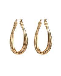 Diane von Furstenberg - Metallic Snake-chain Hoop Earrings - Lyst