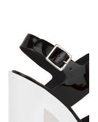 Steve Madden Iggy Azalea For Get It Black Patent Slingback Platform Sandals