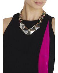 Iosselliani | Metallic Swarovski Crystal Embellished Necklace | Lyst