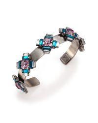 DANNIJO | Multicolor Alexia Crystal Station Cuff Bracelet | Lyst