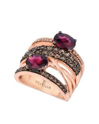 Le Vian | Pink 14kt Rose Gold Rhodolite And Diamond Ring | Lyst