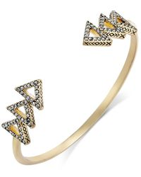 House of Harlow 1960 | Metallic Pavé Tessellation Cuff Bracelet | Lyst