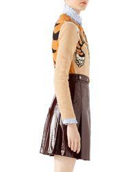 Gucci - Multicolor Tiger Jacquard Knit Top - Lyst