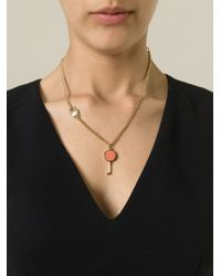 Marc By Marc Jacobs Orange 'Party Key' Necklace