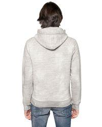 DSquared² Gray Flock Cotton Fleece Sweatshirt for men