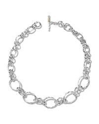 Ippolita - Metallic Silver Graduated-link Necklace - Lyst