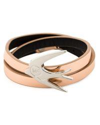 McQ | Pink Swallow Triple Wrap Bracelet | Lyst