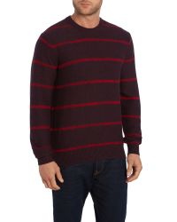 Paul Smith | Purple Crew Neck Striped Knitted Jumper for Men | Lyst