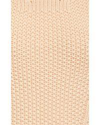 Nina Ricci White Peach Virgin Wool Turtleneck Sweater