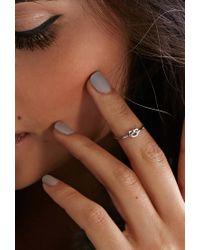 Forever 21 - Metallic Flash Trash Girl Infinity Knot Midi Ring - Lyst