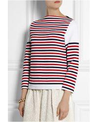 Sonia Rykiel - Red Striped Stretch-ponte Top - Lyst