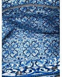 Dolce & Gabbana Blue Majolica Print Tote