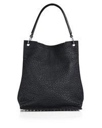 Alexander Wang Black Darcy Pebbled Leather Hobo Bag