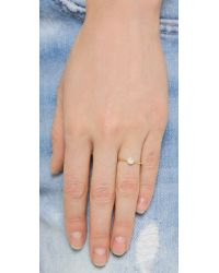 Tai | Metallic Pave Ring - Gold/clear | Lyst