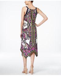 INC International Concepts - Multicolor Petite Printed Handkerchief-hem Sheath Dress, Only At Macy's - Lyst