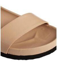 KG by Kurt Geiger Metallic Kg By Kurt Geiger Marissa Nude Footbed Flat Sandals