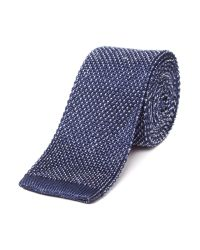 Richard James | Blue Silk Tie - Knitted for Men | Lyst