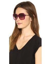 M Missoni Purple Oversized Square Sunglasses Blackgradient Grey