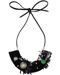 Marni - Black Floral Necklace - Lyst