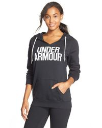 Under Armour | Black 'favorite - Word Mark' Hoodie | Lyst
