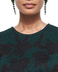 St. John - Black Graduated Crystal Drop Earrings - Lyst