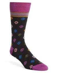 Bugatchi   Gray Diamond Socks for Men   Lyst