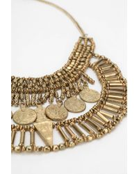 Urban Outfitters - Metallic Asa Coin Bib Necklace - Lyst