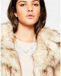 Lipsy | Metallic White Filigree Necklace | Lyst