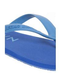 Orlebar Brown - Blue Watson Rubber Flip Flop - Lyst