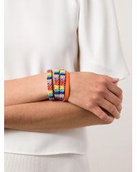 Moschino Multicolor Logo Plaque Bracelet