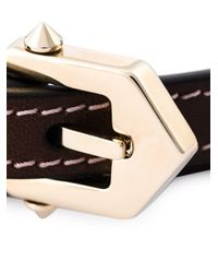 Givenchy | Brown Studded Wrap Bracelet | Lyst