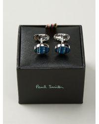 Paul Smith Blue Button Cufflinks for men