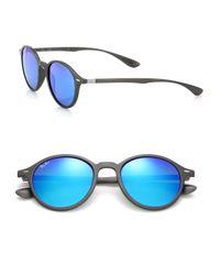 Ray-Ban - Gray Phantos 50mm Round Nylon Sunglasses for Men - Lyst